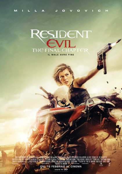 Resident Evil:The Final Chapter Recensione Blu Ray
